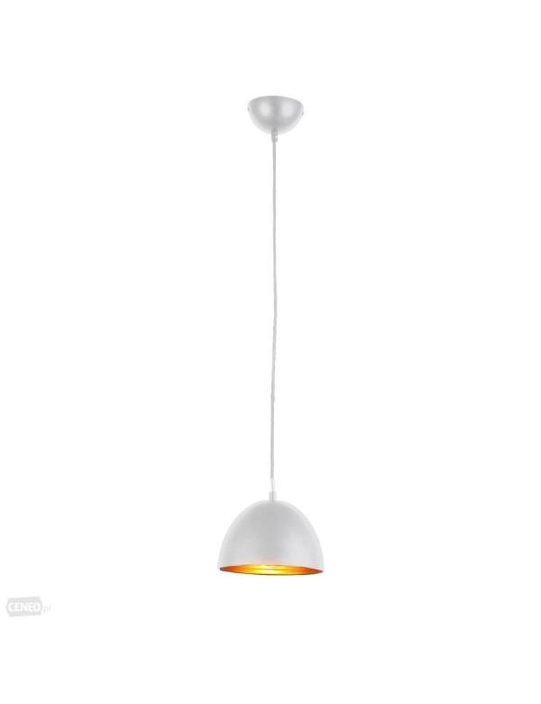 lampy wiszące białe półkoliste