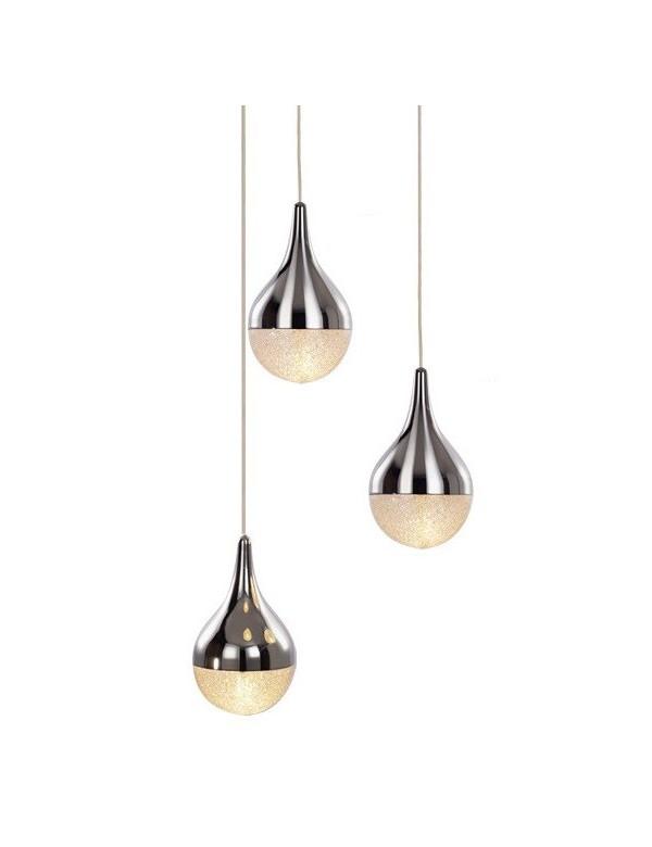 Kombinacja trzech kulistych kloszy - lampa wisząca CECILIA 3 - Azzardo
