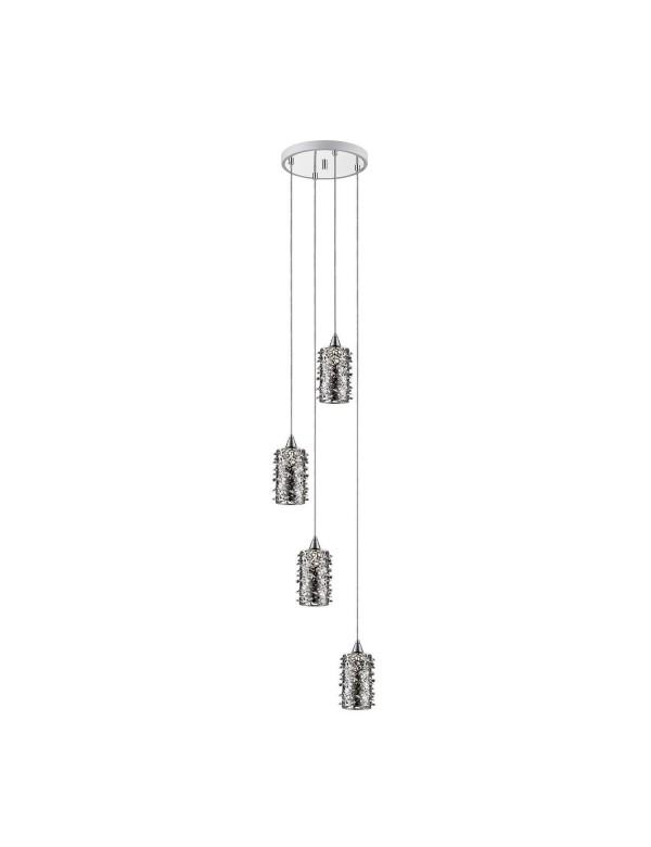 Wisząca lampa GIANNA 4B o kloszach z elementami kryształowymi - Zuma Line