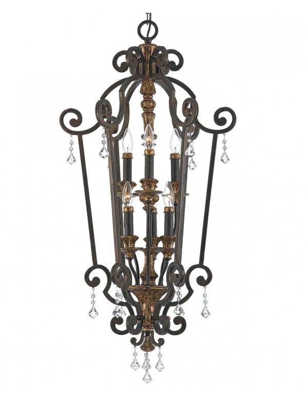 Wisząca lampa bogato zdobiona Marquette 5206 - Quoizel