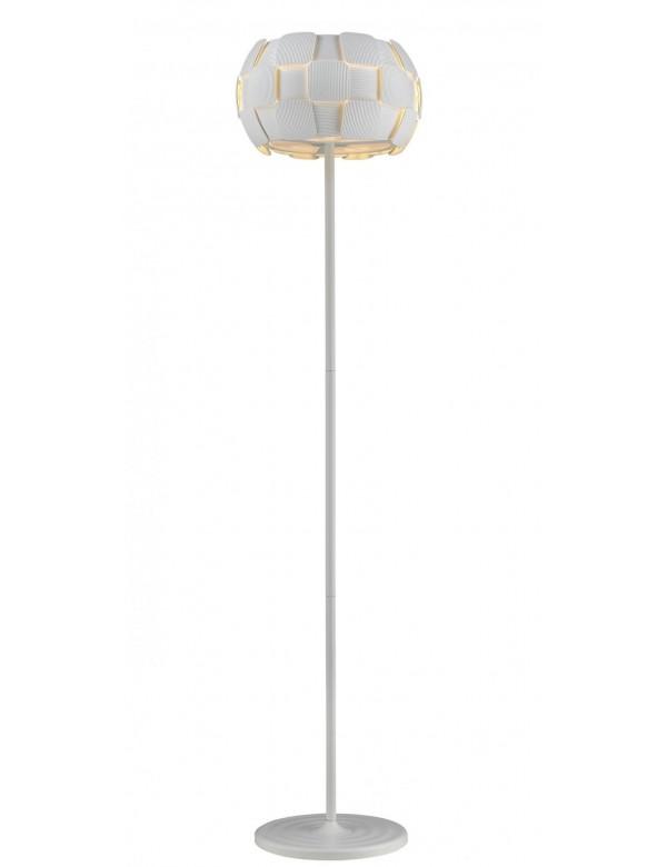SOLE LP lampa podłogowa z płaskim białym kloszem - Zuma Line