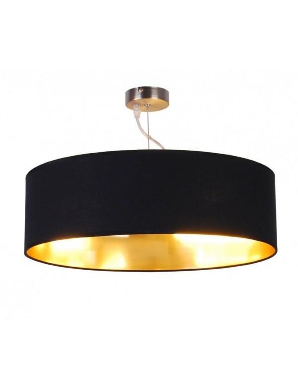 ANDREA W1 materiałowa lampa wisząca ze złotym wnętrzem - Zuma Line