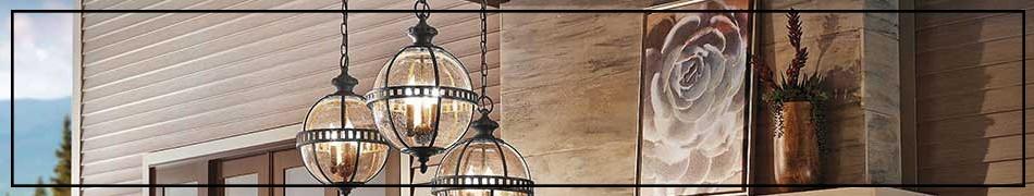 Lampy wiszące ogrodowe – oprawy na długim skracalnym łańcuchu