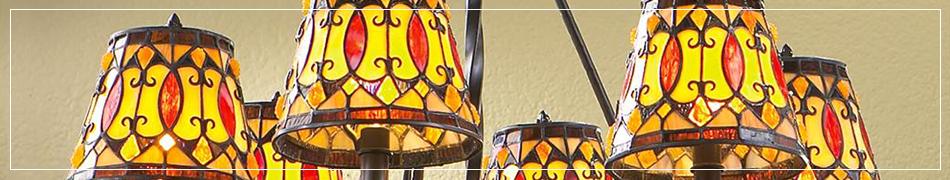 Lampy witrażowe ekskluzywne lampy wykonane z witrażowych szybek