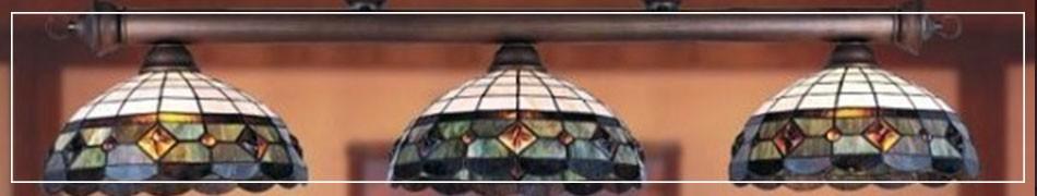 Witrażowe lampy wiszące